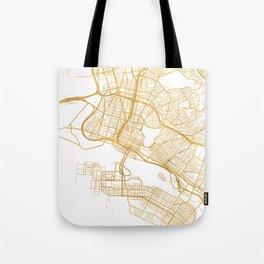 OAKLAND CALIFORNIA CITY STREET MAP ART Tote Bag