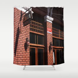 Red Brick Wall... Shower Curtain