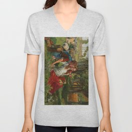 William Holman Hunt's The Hireling Shepherd Unisex V-Neck