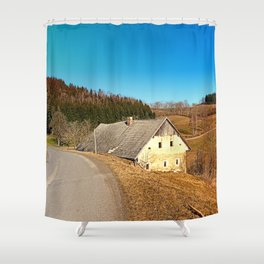Traditional abandoned farmhouse   architectural photography Shower Curtain