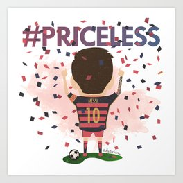Messi Priceless Art Print