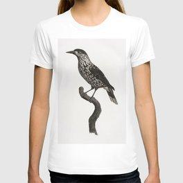 Nutcracker from Histoire Naturelle des Oiseaux de Paradis et Des Rolliers (1806) by Jacques Barraban T-shirt