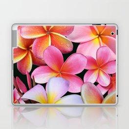 Pink Plumerias Laptop & iPad Skin