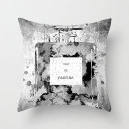 Perfume Black and White Throw Pillow