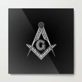 Freemason (Black) Metal Print