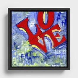 LOVE Framed Canvas
