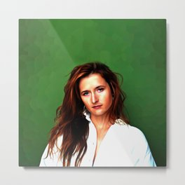 Grace Gummer - Celebrity Art Metal Print