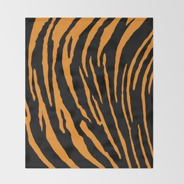 Tiger Stripes Throw Blanket