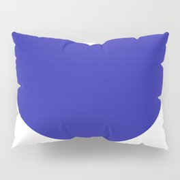 Heart (Navy Blue & White) Pillow Sham