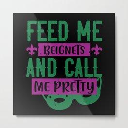 Mardi Gras - Beignets and Pretty Metal Print