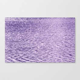 Ultra Violet Glittering Wavy Pattern | Trendy Color of year 2018 Canvas Print