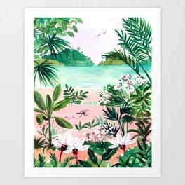 Seaside Meadow Art Print