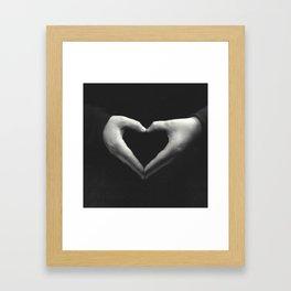 Public displays of affection Framed Art Print