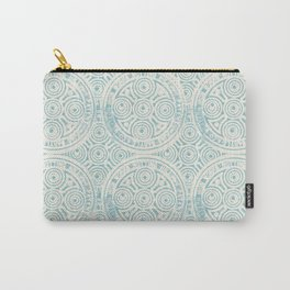 notting hill: aqua with cream Carry-All Pouch