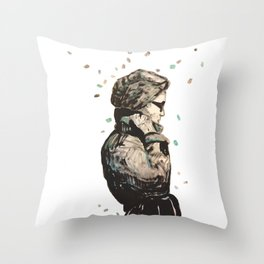 knoke rain  Throw Pillow