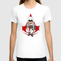 assassins creed T-shirts featuring Altaïr Ibn-La'Ahad: Assassins Creed Chibi by SushiKitteh'sCreations