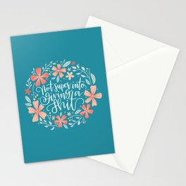 Not super into giving a shit Stationery Cards
