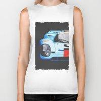 porsche Biker Tanks featuring Porsche 917  by Barbo's Art