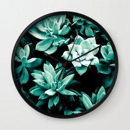 Succulent PATTERN III Wall Clock