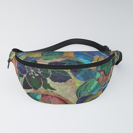 Abstract Floral Hippy Design Fanny Pack