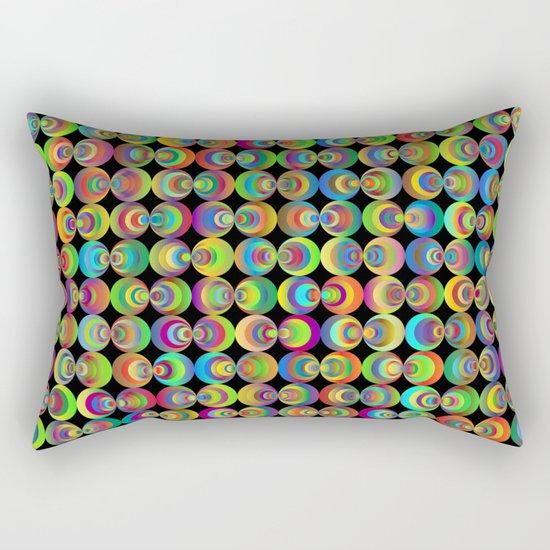 Retro circles Rectangular Pillow