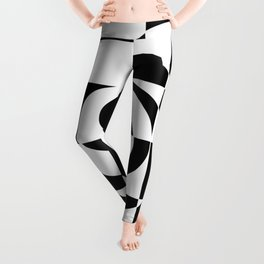 Black And White Swirl Leggings