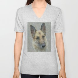 Unconditional Love Holly German Shepard Unisex V-Neck
