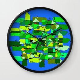 100 x 35 Verde Wall Clock