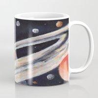 saturn Mugs featuring Saturn by Quinn Shipton