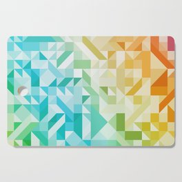Colorful Geometric Pattern Saturated Rainbow Pattern Design (Red Pink Orange Yellow Green Blue) Cutting Board