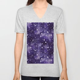 Zodiac Watercolor Ultraviolet Unisex V-Neck