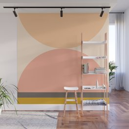 Abstraction_Mountains_Balance_ART_Landscape_Minimalism_001 Wall Mural