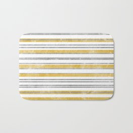 Sun Kissed Stripes: Silver and Gold Bath Mat