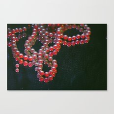 Colorful Pearls on a dirty mirror. Canvas Print