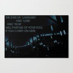 T H E . E Y E S Canvas Print