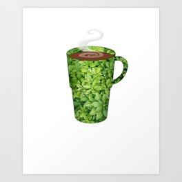 greenery extra large mug - coffee cup series Art Print