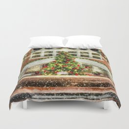 The Town Christmas Tree Duvet Cover