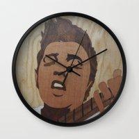 elvis presley Wall Clocks featuring Elvis Presley  by Andulino