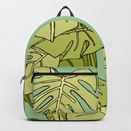 Tropical Green Plant Backpack