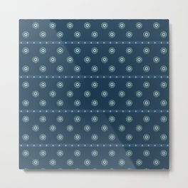 Blue Circles on Blue Metal Print