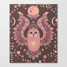 The Owl, The Moon & The Butterfly Canvas Print
