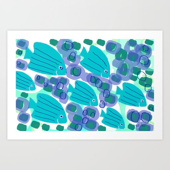 Angelfish Art Print