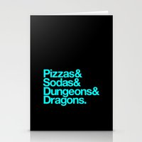 dungeons and dragons Stationery Cards featuring Dungeons & Dragons & Swag by Tuff Industries