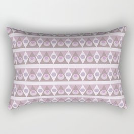 Geometric background pink pattern - circles, triangles, vector. Rectangular Pillow