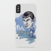 spock iPhone & iPod Cases featuring spock by ElenaTerrin