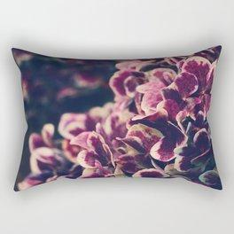 Hydrangea Flowers - Deep Purple Rectangular Pillow
