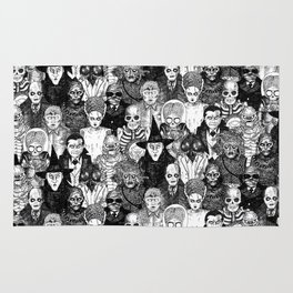 Horror Film Monsters Rug