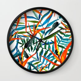 Exotic nature and flowers Wall Clock