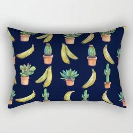 Cactus & Bananas at night Rectangular Pillow