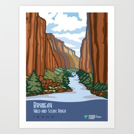 Vintage Poster - Bruneau Wild and Scenic River, Idaho (2015) Art Print